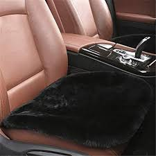 silence ping 1pcs sheepskin seat pad universal fit leather and patented non slip backing