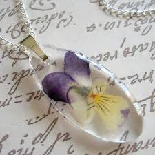 What advice do you have for beginners working with pressed flower jewelry.  Experiment, experiment, experiment! Press and dry all kinds of flowers,  leaves, ...