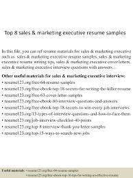 Top8salesmarketingexecutiveresumesamples 150520134654 Lva1 App6891 Thumbnail 4 Jpg Cb 1432129658