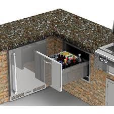 Under Counter Beverage Centers Alfresco 26 Inch Insulated Under Counter Ice Drawer Beverage