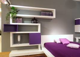 Small Purple Bedroom Bedroom Awesome Purple White Wood Glass Modern Design Interior