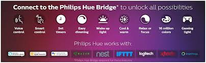 Philips Hue White And Color Ambiance Lightstrip Plus Dimmable Led Smart Light Requires Hue Hub Works With Alexa Homekit Google Assistant