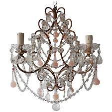 french pink opaline drops and hot pink opaline bead crystal chandelier for