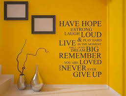 have hope wall quote family wall