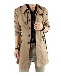 trench coat for men white background