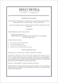 High School Diploma On Resume Interesting Sample Resume No Work Experience High School Students R