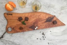 custom made solid wood cutting or serving board charcuterie bread cheese