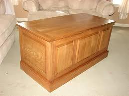 wooden blanket chest