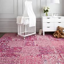 rug on carpet nursery. FLOR Carpet Tiles With The Look Of An Oriental Rug On Nursery 0