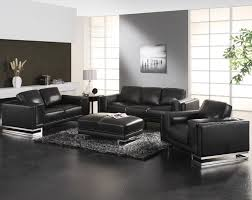 living room with black furniture. Image Of: Black Leather Sofa Furniture Living Room With