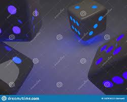 Dice With Lights Bright Modern Dice Stock Illustration Illustration Of