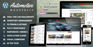 Automotive V8 2 Car Dealership Business Wordpress Theme