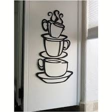 3 coffee cups creative wall art decal removable vinyl wall sticker diy home decor wall art on creative images wall art with 3 coffee cups creative wall art decal removable vinyl wall sticker