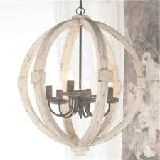 elegant white wood orb chandelier large round wooden orb within white washed wood chandelier