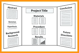 Science Fair Projects Layout Tri Fold Science Board Fold Poster Board Template Site Science Board
