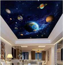 3d ceiling murals wall paper picture ...