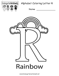 Kindergarten Letter R Coloring Worksheet Printable