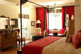 Brown And Red Bedroom