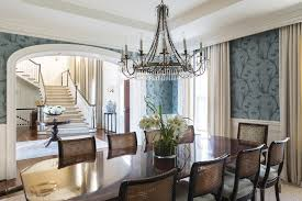 A David Iatesta chandelier makes a statement in the dining room.