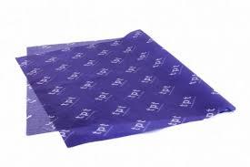 17 Gsm Mf Custom Tissue 1 Side 100 Navy Print White Out Logo