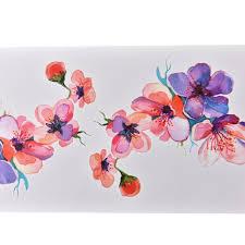 акварель орхидея рука Diy татуировки наклейки наклейка цветок временные
