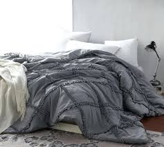 gray king size bed one of a kind gathered ruffles king oversize comforter alloy gray king