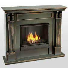 image of gel fuel vs electric fireplace