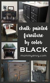 chalk painted furniture by color black