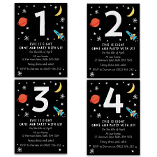 Space Party Invitation Personalised Space Childrens Birthday Invitations