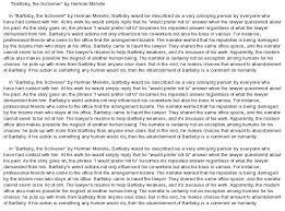bartleby essay bartleby
