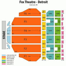 fox theater interactive seating chart brokehome