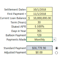 Simple Interest Commercial Loan Amortization Excel Cfo