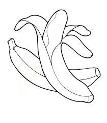 Coloriage Banane Imprimer