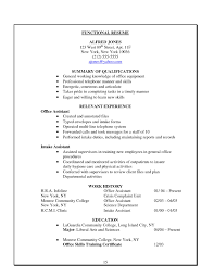 Office Assistant Resume Format It Resume Cover Letter Sample