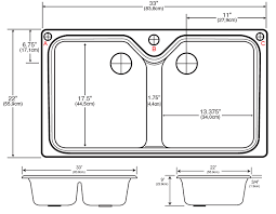 stylish standard double kitchen sink size standard kitchen sink bowl depth best kitchen ideas 2017