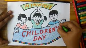 How To Make Children S Day Chart Childrens Day Drawing Competition Themes Contoh Soal Dan