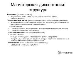 Презентация на тему Магистерская диссертация Магистерская  6 Магистерская диссертация структура Введение