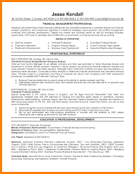 7 Resume Financial Analyst Self Introduce
