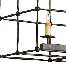 rustic bronze rectangular chandelier
