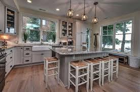 cottage kitchen ideas. Fine Kitchen Cottage Kitchen With Island Wood Flooring And Farmhouse Sink Intended Kitchen Ideas E