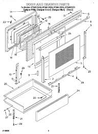 gy396lxgq4 electric range door and drawer parts diagram