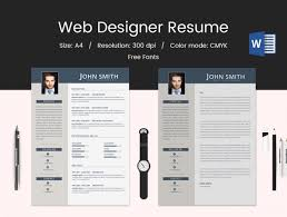 Web Designer Resume Template Resume And Cover Letter Resume And