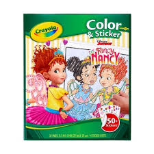 Pages do not tear out easy. Crayola Fancy Nancy Coloring Book And Stickers Target