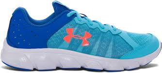 under armour shoes for girls. under armour ggs micro g assert 6 shoe thumb - venetian blue/mediterranean/ shoes for girls \