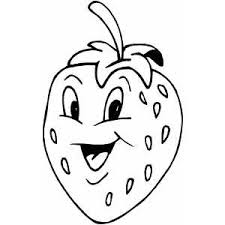Small Picture Happy Strawberry Coloring Page