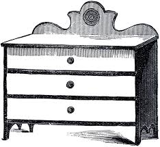 dresser clipart black and white. Fine White Vintage Cottage Dresser Image Throughout Clipart Black And White A