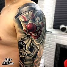 тату 3d тату клоун на плече тату студия битый небитого санкт