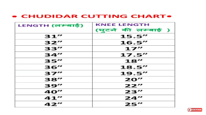 Churidar Measurement Chart Pin On Sizing Charts
