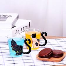 <b>Cute Creative Cat Kitty</b> Glass Mug Cup Tea Cup Milk Coffee Cup A ...
