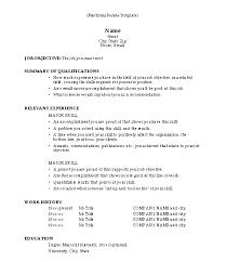 Sample Resume Templates 7 Template Popular Form